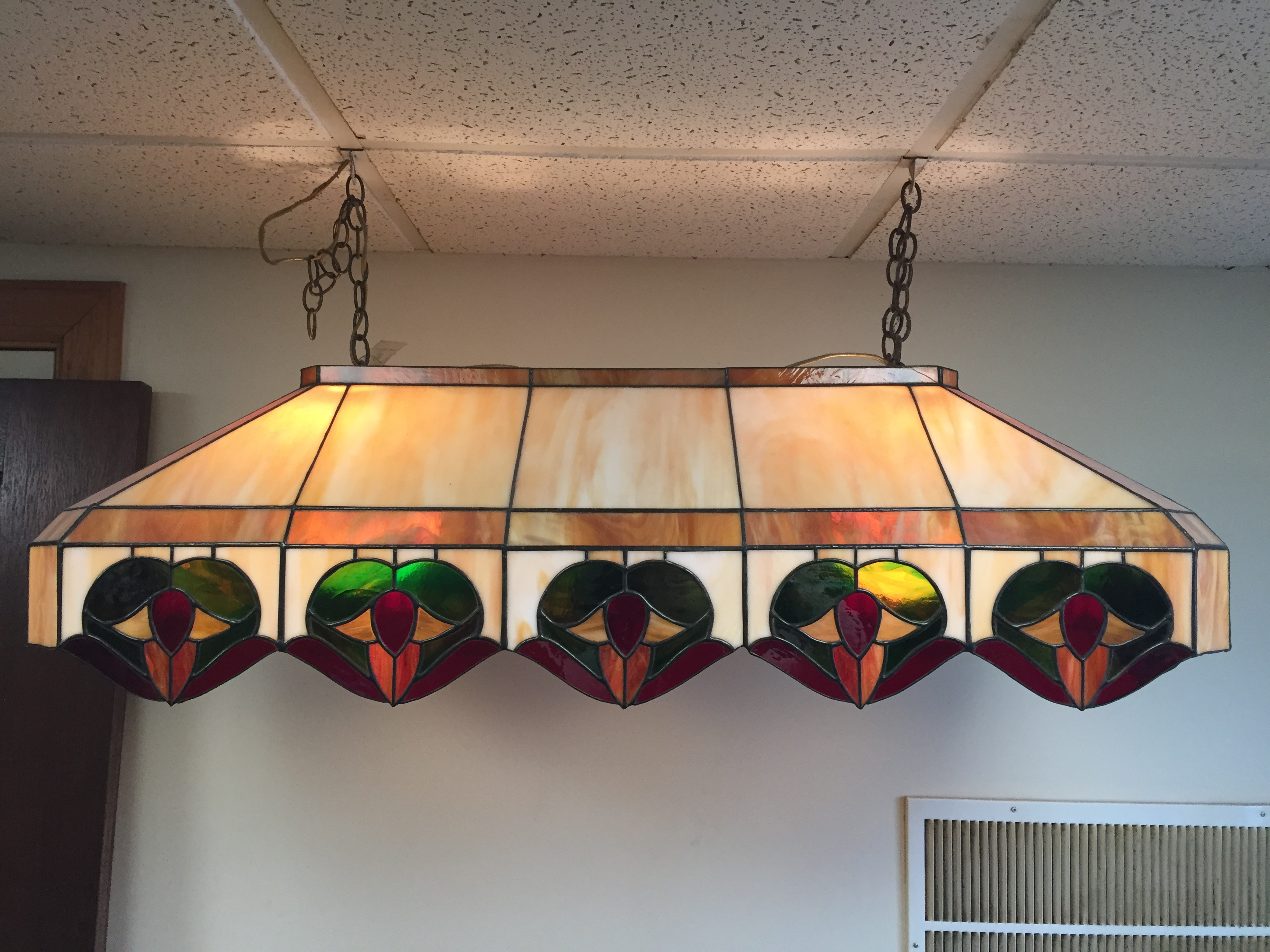 Stained Glass Pool Table Lamp Williams Stained Glass Shop