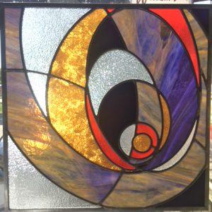 Abstract Purple-Amber-Orange $285