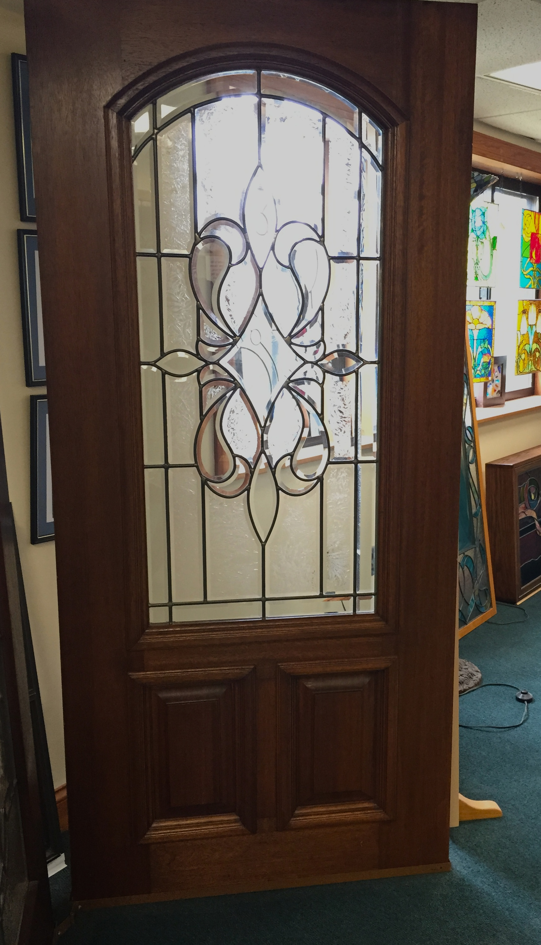 Traditional Leaded Glass Door Williams Stained Glass Shop