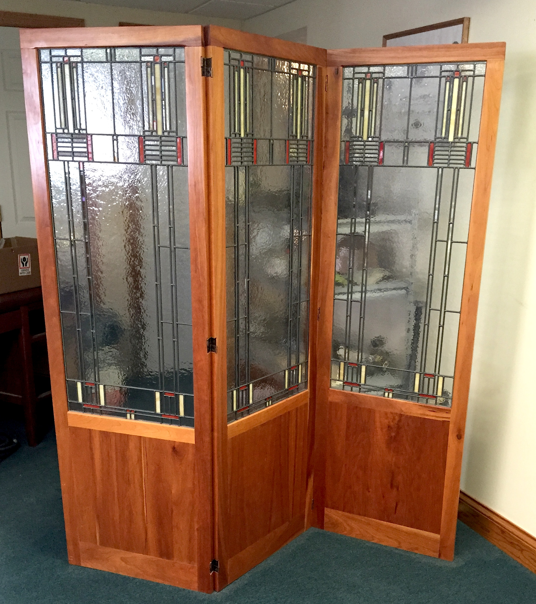 Mission Style Room Divider Williams Stained Glass Shop