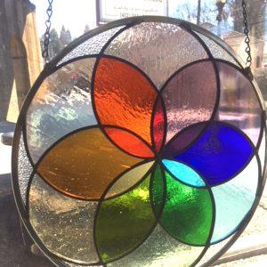Rainbow Mandala $240